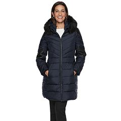 Women's TOWER by London Fog Faux-Leather Trim Puffer Jacket