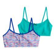 Girls 7-16 Hanes 2-pack Wire Free Crop Top Bras