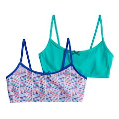 Girls 7-16 Hanes 2-pack Wire Free Crop Top Bras