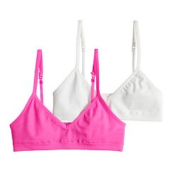 Girls 7-16 Hanes 2-pack Seamless V-Neck Crop Bras