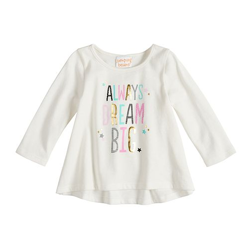 Baby Girl Jumping Beans® Shirred-Back Graphic Top