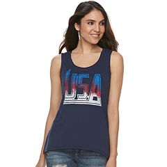 Women's Rock & Republic® 'USA' Graphic Tank