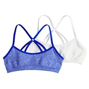 Girls 7-16 Hanes 2-pack Seamless Racerback Wire Free Bralettes