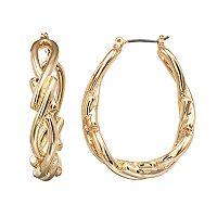 Napier Gold Plated U-Hoop Earrings