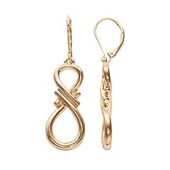 Napier Gold Tone Drop Earrings