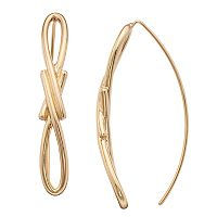 Napier Gold Plated Threader Earrings