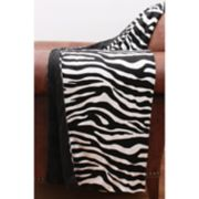 Thro Zoe Zebra Print Micromink Throw