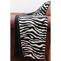 Thro Zoe Zebra Print Micromink Throw