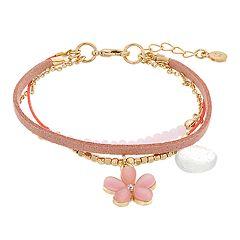 LC Lauren Conrad Multi Strand Flower Bracelet