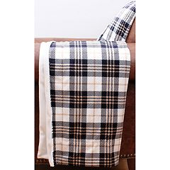 Thro Penny Plaid Print Micromink Throw