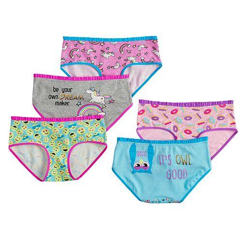 Girls 4-16 SO® 5-pack Hipster Panties