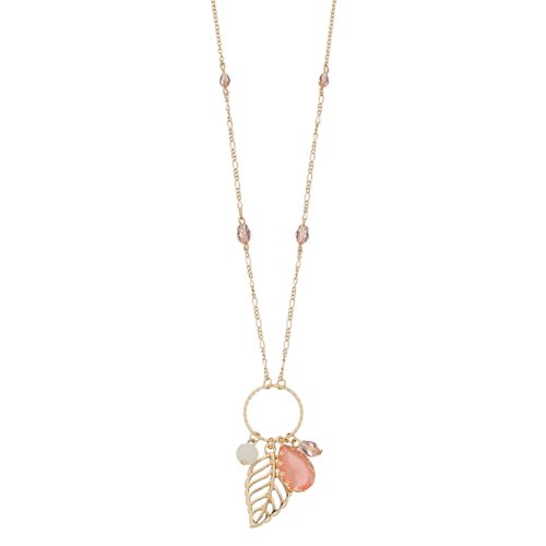 Lc Lauren Conrad Long Leaf Cluster Pendant Necklace by Kohl's
