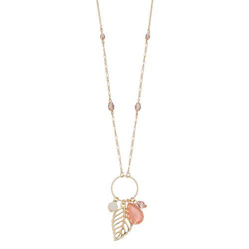 Lc Lauren Conrad Long Leaf Cluster Pendant Necklace by Kohl's