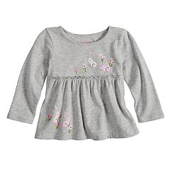 Baby Girl Jumping Beans® Print Babydoll Top