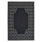 StyleHaven Mainland Delicate Geometric Border Indoor Outdoor Rug