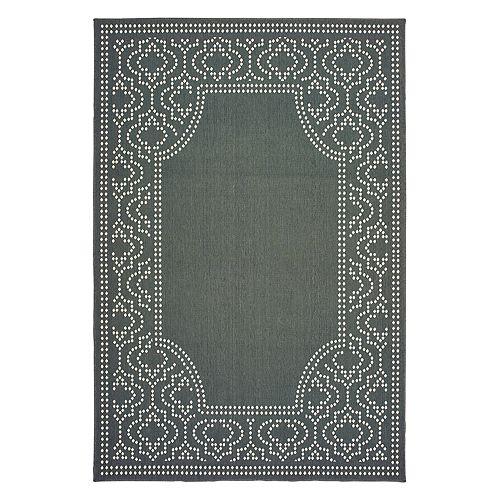 StyleHaven Mainland Delicate Geometric Border Indoor Outdoor Rug