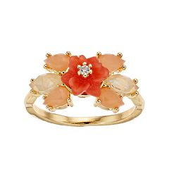 LC Lauren Conrad Peach Flower Cluster Ring