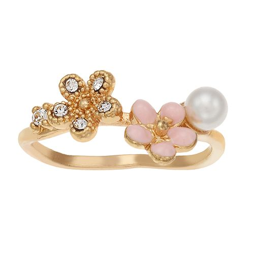 LC Lauren Conrad Flower Cluster Ring