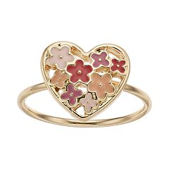 LC Lauren Conrad Heart Flower Ring