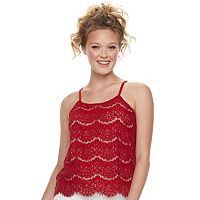 Juniors' Love, Fire Lace Cami