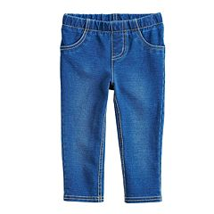 Baby Girl Jumping Beans® Faux-Denim Jeggings
