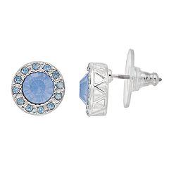 LC Lauren Conrad Blue Simulated Crystal Nickel Free Halo Stud Earrings