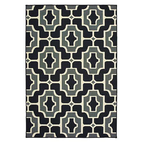 StyleHaven Mainland Geometric Tile Indoor Outdoor Rug