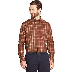 Men's Arrow Heritage Classic-Fit Plaid Twill Button-Down Shirt