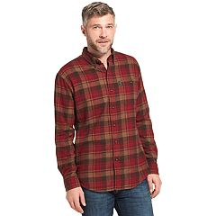 Men's Arrow Saranac Classic-Fit Plaid Flannel Button-Down Shirt