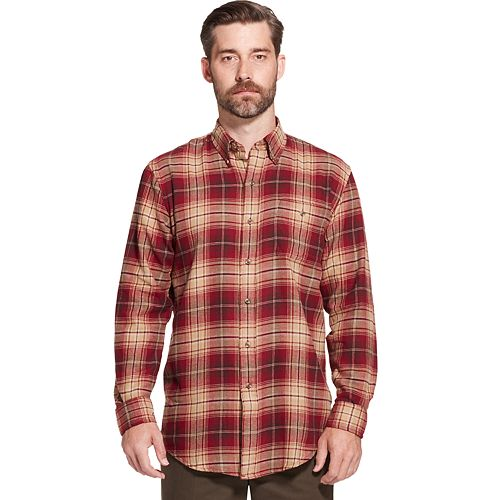 Men's Arrow Saranac Classic-Fit Plaid Flannel Button-Down Shirt