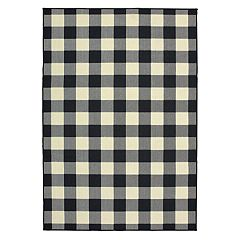 StyleHaven Mainland Gingham Plaid Indoor Outdoor Rug