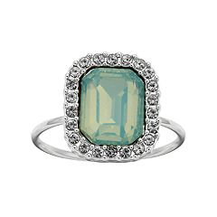 LC Lauren Conrad Green Cocktail Halo Ring