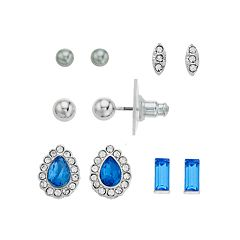 LC Lauren Conrad Nickel Free Simulated Crystal Stud Earring Set