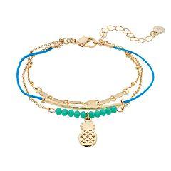 LC Lauren Conrad Multi Strand Pineapple Bracelet