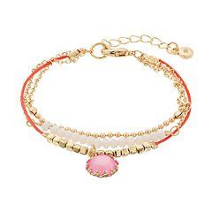 LC Lauren Conrad Beaded Pendant Bracelet