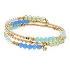 LC Lauren Conrad Beaded Coil Bracelet