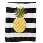 Thro Pana Pineapple Stripe Micromink Throw