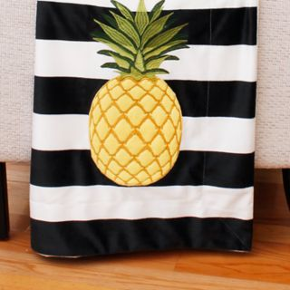 Thro Pana Pineapple Stripe Micromink Throw