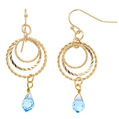 LC Lauren Conrad Textured Nickel Free Hoop Drop Earrings