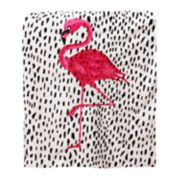 Thro Galliano Flamingo Micromink Throw
