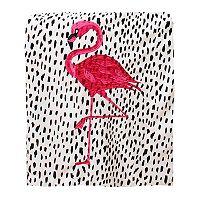 Thro Galliano Flamingo Micromink Throw