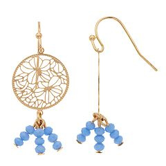 LC Lauren Conrad Openwork Flower Nickel Free Drop Earrings