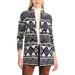 Women's Chaps Southwestern Print Toggle Sweater Jacket