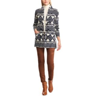 Women's Chaps Southwestern Print Toggle Sweater Jacket