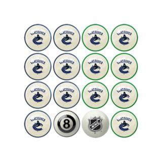 Home vs. Away Vancouver Canucks 16-Piece Billiard Ball Set
