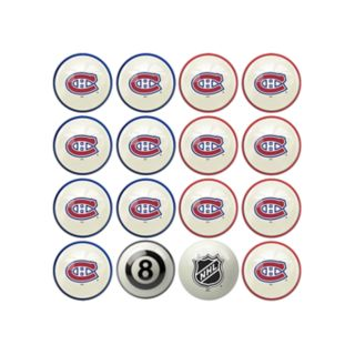Home vs. Away Montreal Canadiens 16-Piece Billiard Ball Set