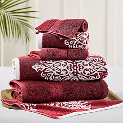 Allure 6-piece Artesia Damask Reversible Jacquard Bath Towel Set