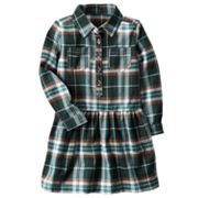 Toddler Girl Carter's Plaid Drop-Waist Dress