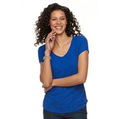 Women's Dana Buchman Jacquard V-neck Tee