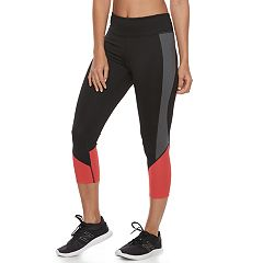 Women's Tek Gear® Mesh Midrise Capri Leggings